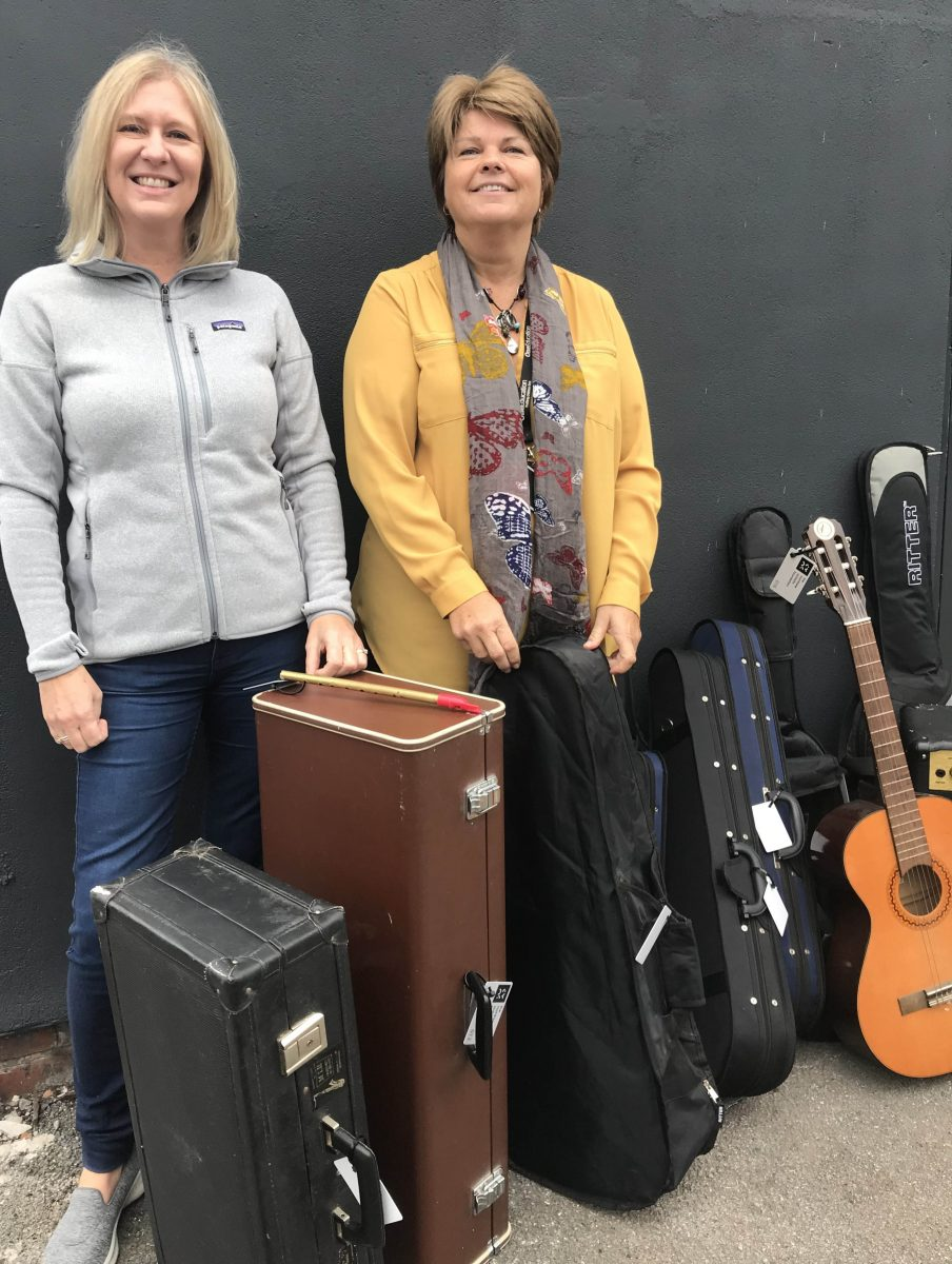 Donated instruments arrive in Manchester!